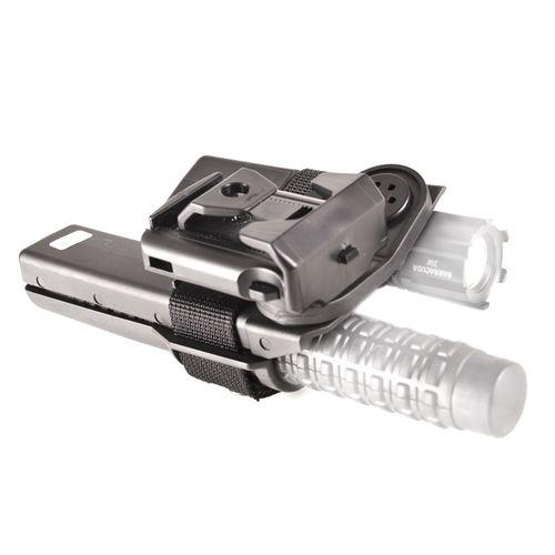 Plastové puzdro na obušok a svietidlo dvojité, rotačné BH-LH-05