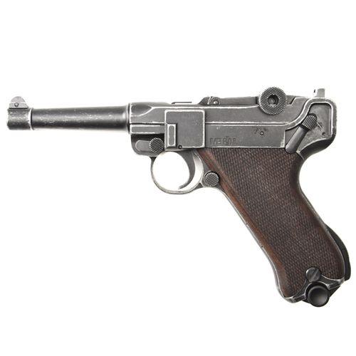 Plynová pištoľ Cuno Melcher P08 antik, kal. 9 mm