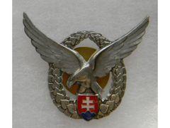 Odznak pilotný, strieborný