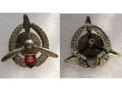 Odznak technického personálu letectva, strieborný