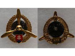 Odznak technického personálu letectva, zlatý