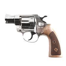 Plynový revolver ALFA 020 nikel, drevo, kal.9mm R Knall