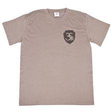 Tričko pánske s krátkym rukávom, farba šedá, čierne logo