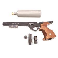Vzduchová pištoľ Alfa Sport CO2 s kompenzátorom kal. 4,5 mm, čierna