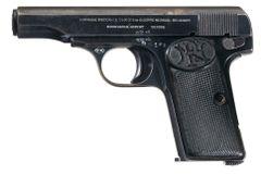 Znehodnotená pištoľ Fn 1910 kal. 9 Browning