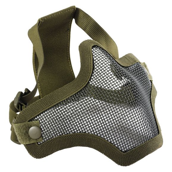 Airsoft maska Mesh metal zelená