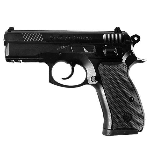 Airsoft pištoľ CZ 75 D compact CO2 4,5 mm, čierna
