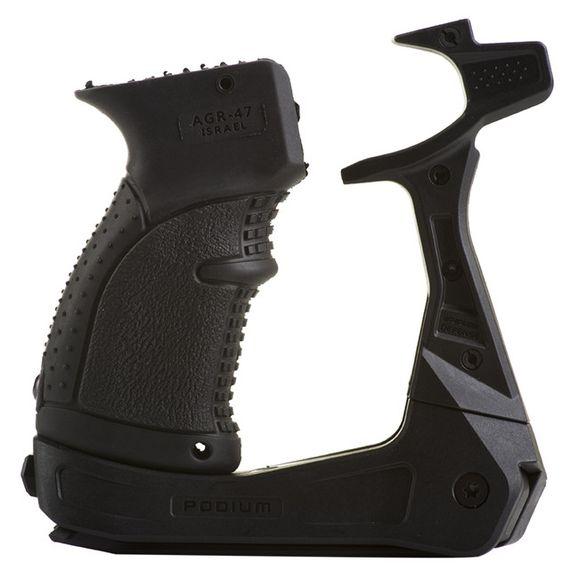 AK-PODIUM platforma s dvojnožkou pre zbrane typu AK-15 (vrátane pistolovej rukoväti)