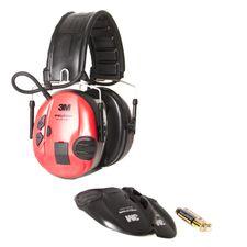 Chrániče sluchu Peltor SportTac Shooting čeveno-čierne