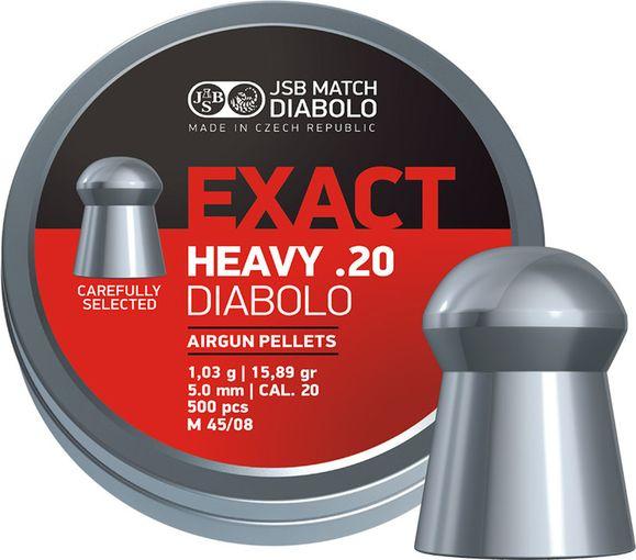 Diabolo JSB Exact Heavy, 500 ks, kal. 5,10 mm (.20)