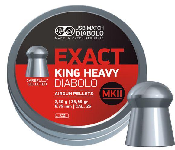 Diabolo JSB Exact King Heavy MKII, 150 ks, kal. 6,35 mm