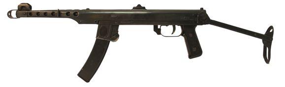 Expanzný samopal Sudajev PPS 43, kal. 7,62 x 25 Blank