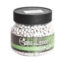 Guľôčky BB, 6 mm, Combat Zone, 0,20 g, 2000 ks, biele
