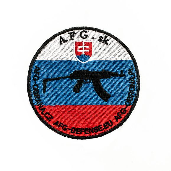Nášivka AFG - samopal vz 58 subcompact tricolor SK