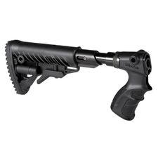 Pažba pevná teleskopická M4 s absorbérom a pištoľovou rukoväťou pre Remington 870