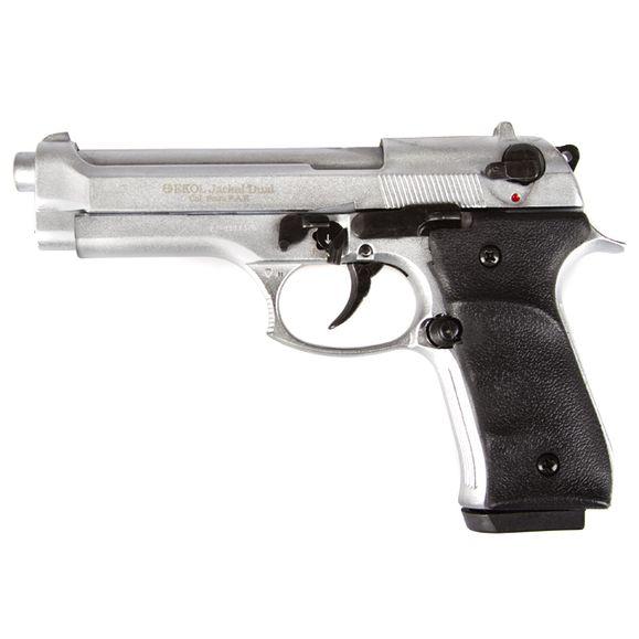 Plynová pištoľ Ekol Jackal dual, nikel, kal.9 mm - Knall - Full Auto
