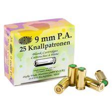 Poplašné náboje pištoľ Wadie 9 mm P.A.K., 25 ks