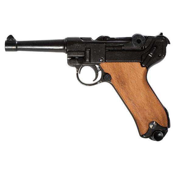Replika pištoľ Parabellum Luger P08, Nemecko, drevo