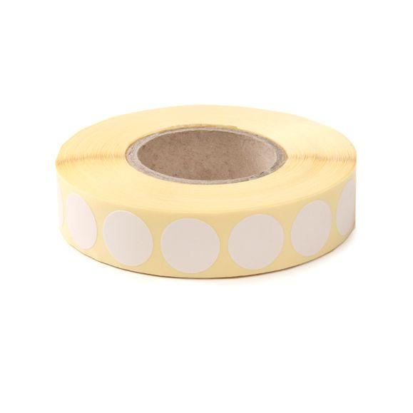 Terčové zálepky 16 mm, biele