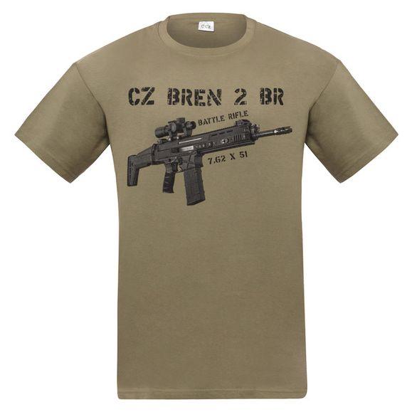 Tričko CZ Bren, farba zelená XL